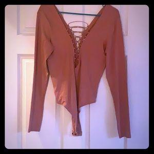 Deep pink bodysuit